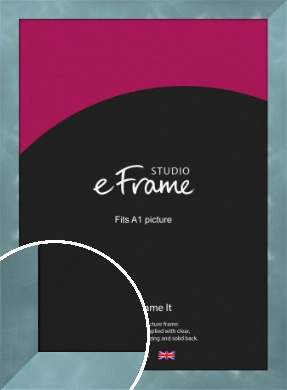 Two Tone Watermark Silver Picture Frame, A1 (594x841mm) (VRMP-A078-A1)