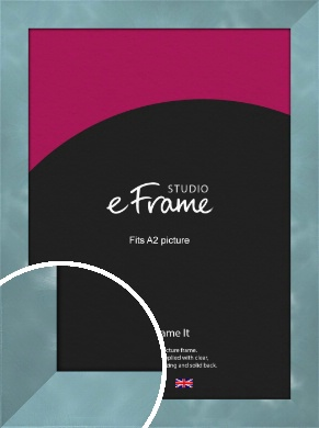 Two Tone Watermark Silver Picture Frame, A2 (420x594mm) (VRMP-A078-A2)