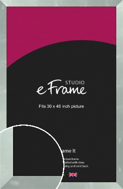 Brushed Light Silver Picture Frame, 30x48