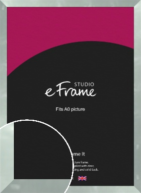 Brushed Light Silver Picture Frame, A0 (841x1189mm) (VRMP-A079-A0)