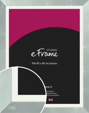 Brushed Light Silver Picture Frame & Mount, 60x80cm (VRMP-A079-M-60x80cm)