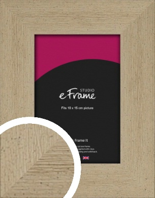 Reclaimed Effect Natural Wood Picture Frame, 10x15cm (4x6