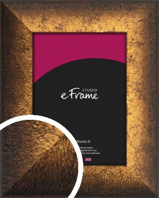 Ombre Distressed Black To Gold Picture Frame (VRMP-392)