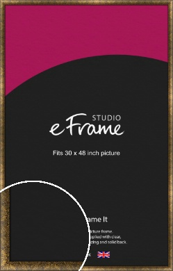 Aged Marble Gold Picture Frame, 30x48