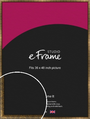 Aged Marble Gold Picture Frame, 36x48