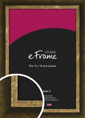 Battered Bronze / Copper Picture Frame, 12x18