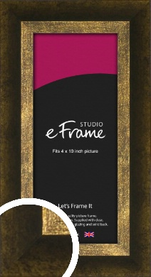 Battered Bronze / Copper Picture Frame, 4x10