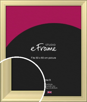 Contemporary Gold Picture Frame, 50x60cm (VRMP-A104-50x60cm)
