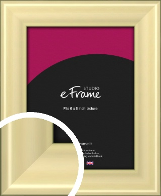 Contemporary Gold Picture Frame, 6x8