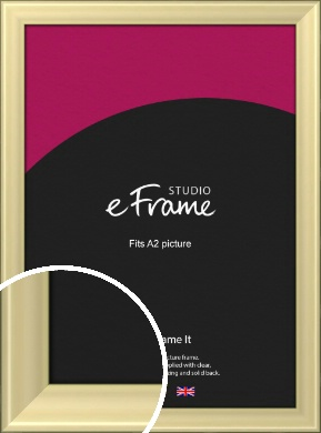Contemporary Gold Picture Frame, A2 (420x594mm) (VRMP-A104-A2)