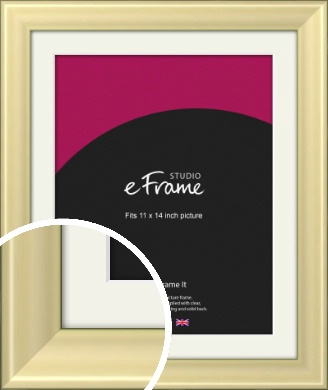 Contemporary Gold Picture Frame & Mount, 11x14