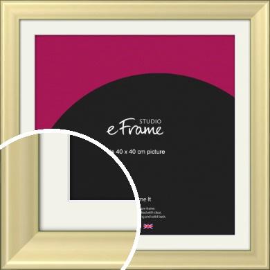 Contemporary Gold Picture Frame & Mount, 40x40cm (VRMP-A104-M-40x40cm)
