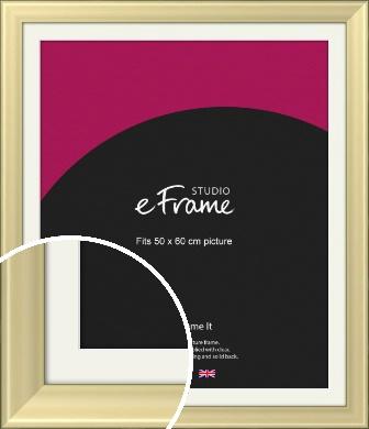 Contemporary Gold Picture Frame & Mount, 50x60cm (VRMP-A104-M-50x60cm)