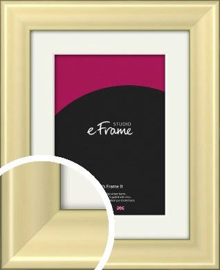 Contemporary Gold Picture Frame & Mount (VRMP-A104-M)