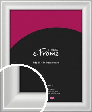 Prestige Polished Aluminium Silver Picture Frame, 11x14