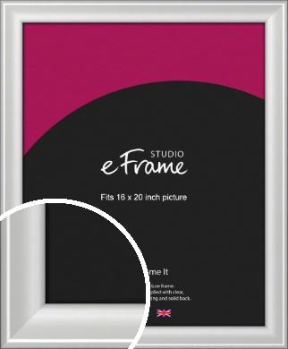 Prestige Polished Aluminium Silver Picture Frame, 16x20