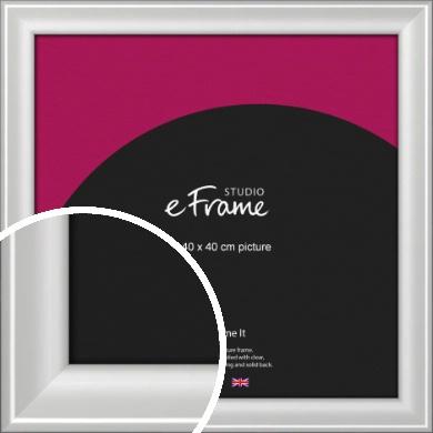 Prestige Polished Aluminium Silver Picture Frame, 40x40cm (VRMP-A105-40x40cm)