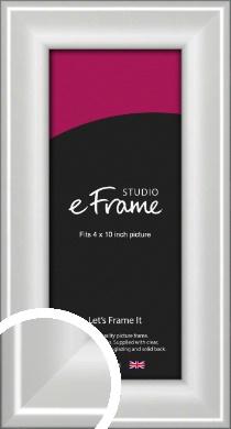 Prestige Polished Aluminium Silver Picture Frame, 4x10