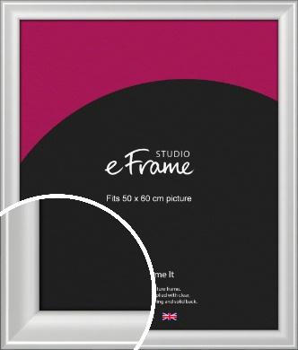 Prestige Polished Aluminium Silver Picture Frame, 50x60cm (VRMP-A105-50x60cm)