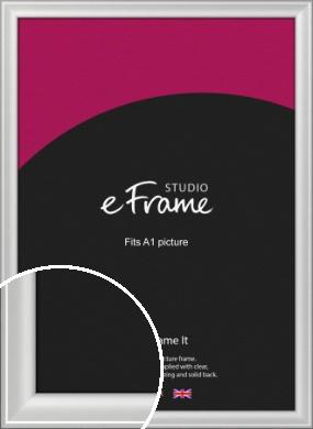 Prestige Polished Aluminium Silver Picture Frame, A1 (594x841mm) (VRMP-A105-A1)