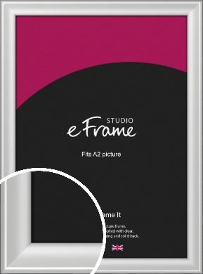 Prestige Polished Aluminium Silver Picture Frame, A2 (420x594mm) (VRMP-A105-A2)
