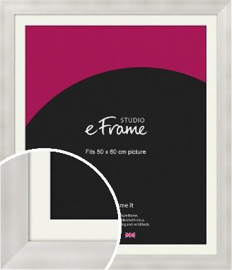 Bright Silver Picture Frame & Mount, 50x60cm (VRMP-A106-M-50x60cm)
