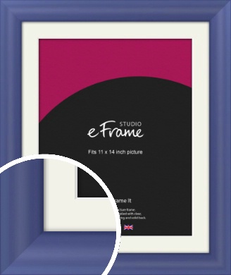 Simple Blue Picture Frame & Mount, 11x14