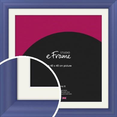 Simple Blue Picture Frame & Mount, 40x40cm (VRMP-A107-M-40x40cm)