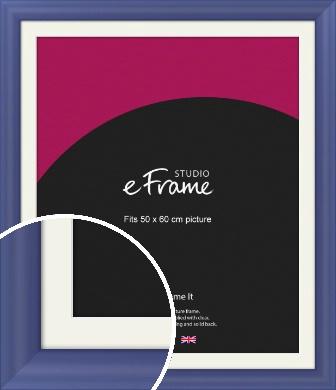 Simple Blue Picture Frame & Mount, 50x60cm (VRMP-A107-M-50x60cm)