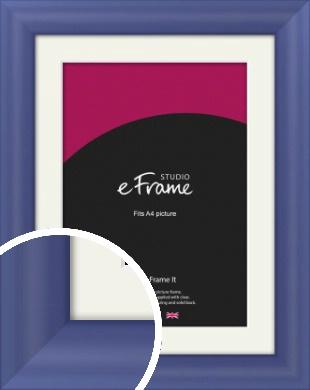 Simple Blue Picture Frame & Mount, A4 (210x297mm) (VRMP-A107-M-A4)