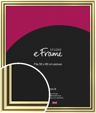 Rounded Gold Picture Frame, 50x60cm (VRMP-A091-50x60cm)