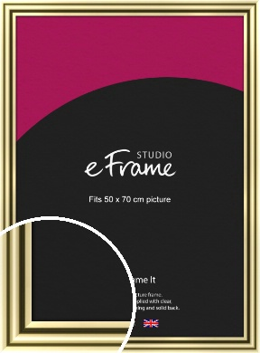 Rounded Gold Picture Frame, 50x70cm (VRMP-A091-50x70cm)