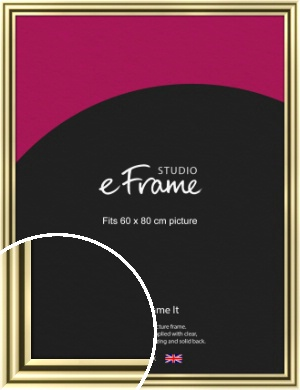 Rounded Gold Picture Frame, 60x80cm (VRMP-A091-60x80cm)