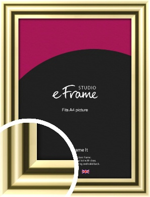 Rounded Gold Picture Frame, A4 (210x297mm) (VRMP-A091-A4)