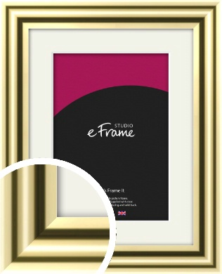 Rounded Gold Picture Frame & Mount (VRMP-A091-M)