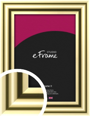 Rounded Gold Picture Frame (VRMP-A091)
