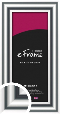 Bold Silver Picture Frame, 4x10