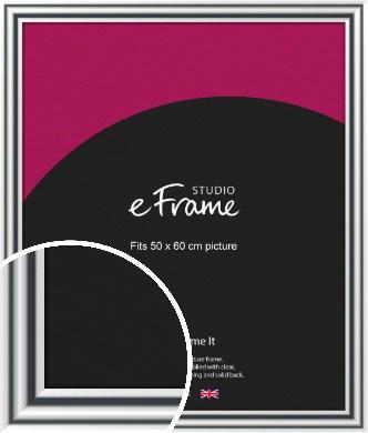 Bold Silver Picture Frame, 50x60cm (VRMP-A092-50x60cm)