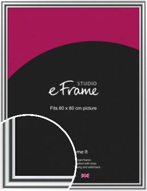 Bold Silver Picture Frame, 60x80cm (VRMP-A092-60x80cm)
