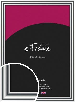 Bold Silver Picture Frame, A2 (420x594mm) (VRMP-A092-A2)
