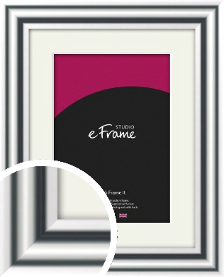 Bold Silver Picture Frame & Mount (VRMP-A092-M)