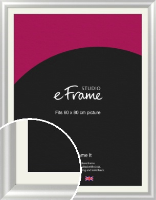 Stainless Silver Picture Frame & Mount, 60x80cm (VRMP-A093-M-60x80cm)