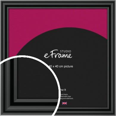 Sophisticated Spherical Black Picture Frame, 40x40cm (VRMP-A094-40x40cm)