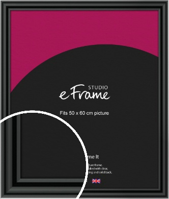 Sophisticated Spherical Black Picture Frame, 50x60cm (VRMP-A094-50x60cm)