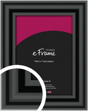 Sophisticated Spherical Black Picture Frame, 5x7