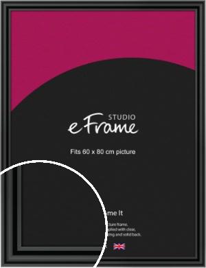 Sophisticated Spherical Black Picture Frame, 60x80cm (VRMP-A094-60x80cm)