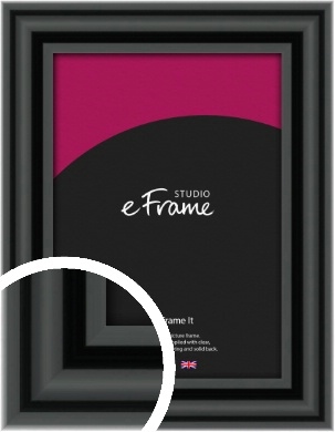 Sophisticated Spherical Black Picture Frame (VRMP-A094)