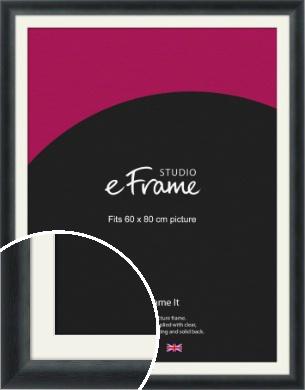 Inky Black Picture Frame & Mount, 60x80cm (VRMP-A089-M-60x80cm)