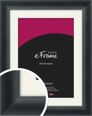 Inky Black Picture Frame & Mount, A4 (210x297mm) (VRMP-A089-M-A4)