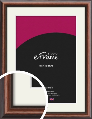 Moody Vintage Brown Picture Frame & Mount, A4 (210x297mm) (VRMP-289-M-A4)